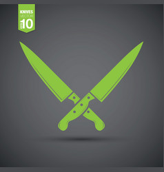 abstract knife vector image