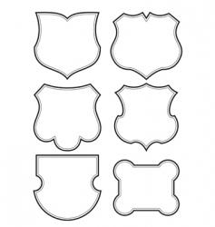 Shield frames set vector