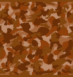 War brown camouflage seamless pattern can vector