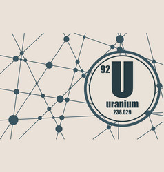 Uranium chemical element vector