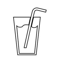Fresh juice drink with straw vector