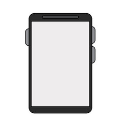 Smartphone with blank screen icon image vector