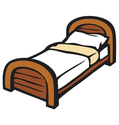 Bed and pillow vector
