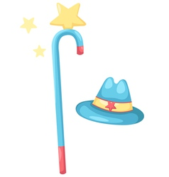 isolated magic hat vector image
