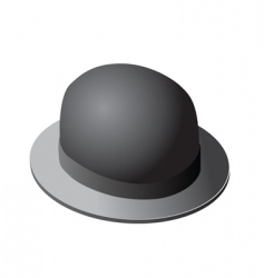 Derby hat vector
