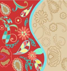 Pattern floral background vector