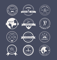 Perfect set of barber and haircut logos vector