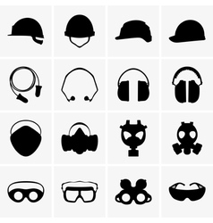 Head protection equipment vector image