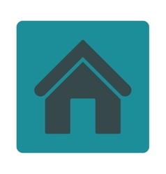 Home flat soft blue colors rounded button vector