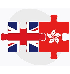 United kingdom and hong kong sar china vector