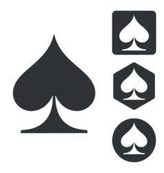 Spades icon set monochrome vector
