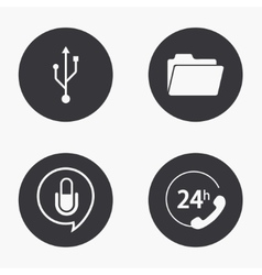 Modern technology icons set vector