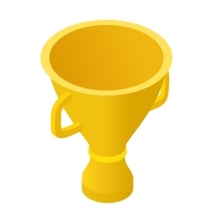 Trophy cup isometric 3d icon vector