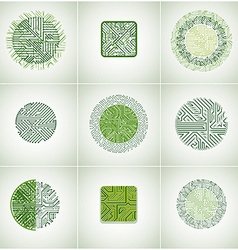 Collection of microchip designs cpu information vector