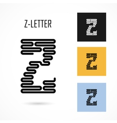 Creative z - letter icon abstract logo design vector