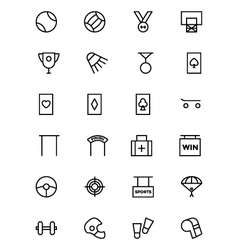 Sports outline icons 5 vector