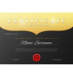 Design Certificate Certificate details gold vector image