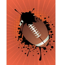 Rugby ball on rays background vector