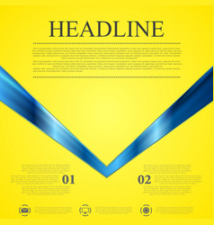 Abstract contrast yellow blue tech background vector