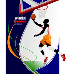 al 0650 basketball 01 vector image vector image