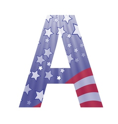 american flag letter A vector image vector image