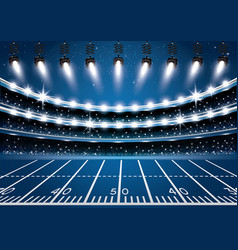 American football stadium arena with spotlights vector