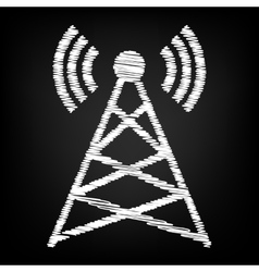 Antenna sign Scribble effect vector image