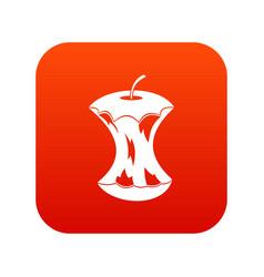 Apple core icon digital red vector