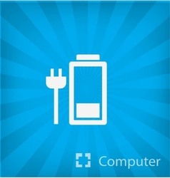 battery icon icon in minimal style vector image