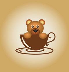 Bear logo coffee vector