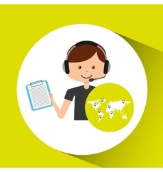 Call center support logistic check list vector