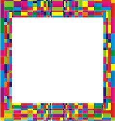 Colorfull frame design vector