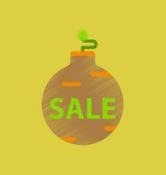 flat shading style icon christmas ball sale vector image