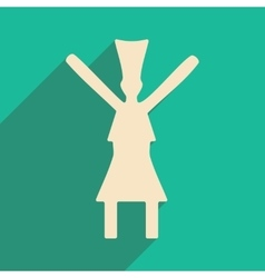 Flat with shadow icon and mobile application dance vector