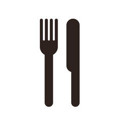 fork and knife sign vector image vector image