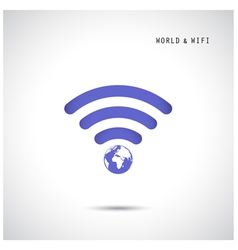 Globe shape and wifi sign vector image
