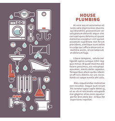 House plumbing poster or infographics vector