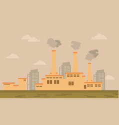 Industry cartoon bad environment theme vector