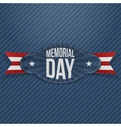 Memorial day paper badge with text vector