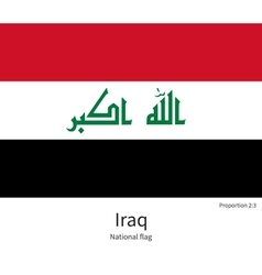 National flag of iraq with correct proportions vector