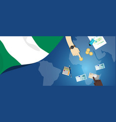 Nigeria economy fiscal money trade concept vector