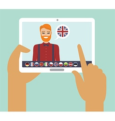 Online language learning vector