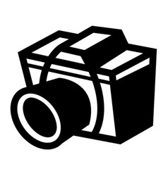 Photography camera icon vector