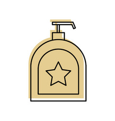 Soap dispenser bottle icon vector
