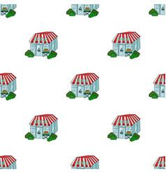 Supermarket icon in cartoon style isolated on vector