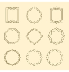 Vintage style emblems frames set vector image vector image