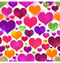 Vivid seamless valentine grunge pattern vector image vector image