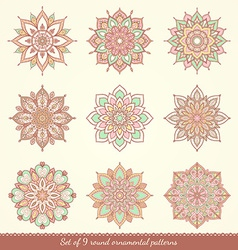 Watercolor hand drawn mandala vector image