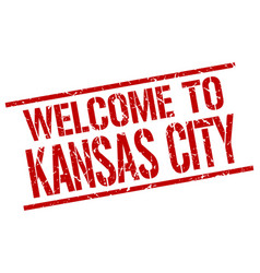Welcome to kansas city stamp vector