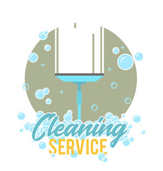 Window cleaning service logo label or symbol vector